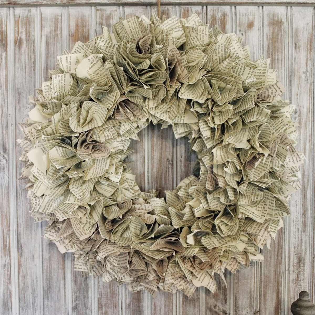 Wreath repurposed from old books.jpg