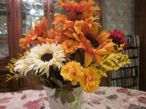 Fall Flowers in Belleek Vase.JPG