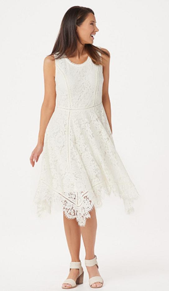 Screenshot_2019-03-31 Isaac Mizrahi Live Regular Handkerchief Hem Floral Lace Midi Dress — QVC com.png