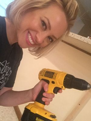 Mary with drill.JPG