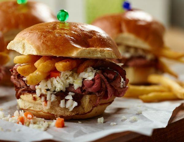 Loaded Roast Beef Sandwich