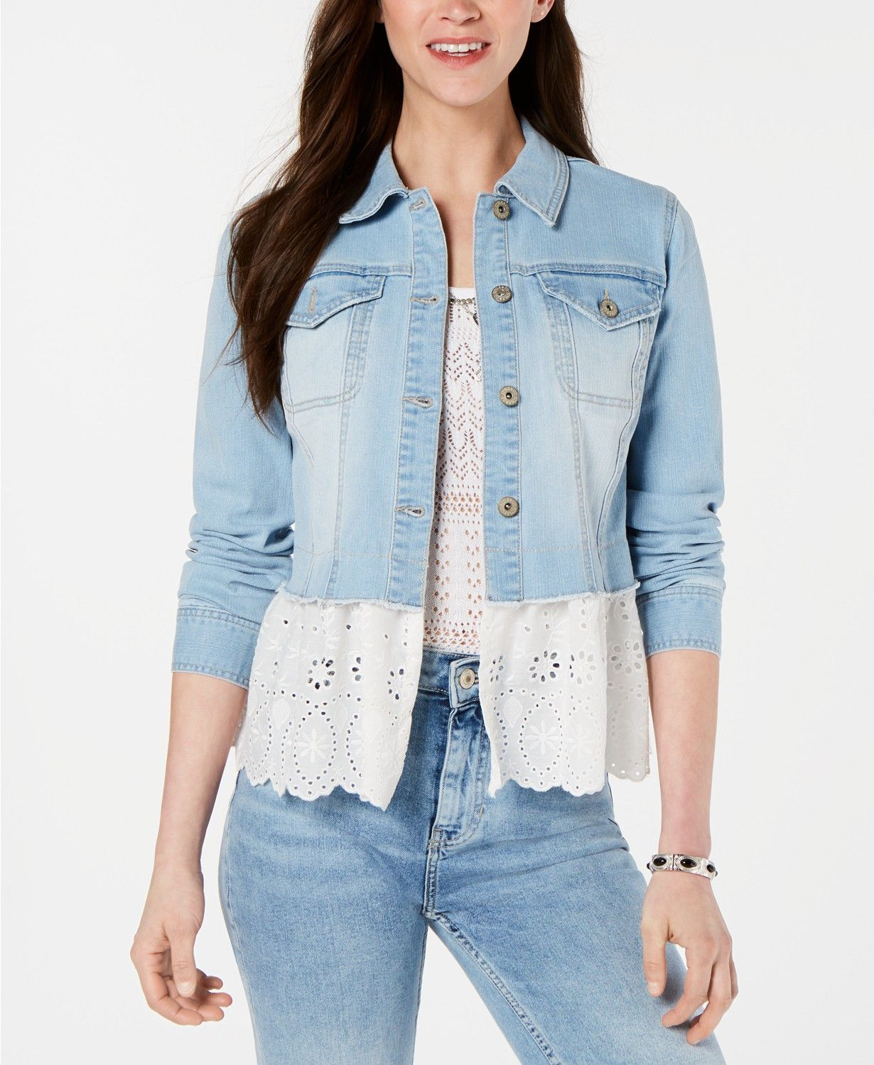 Macy's Denim and Eyelet Jacket.jpg