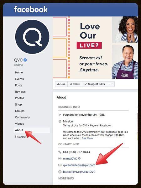 QVCFacebookEmail