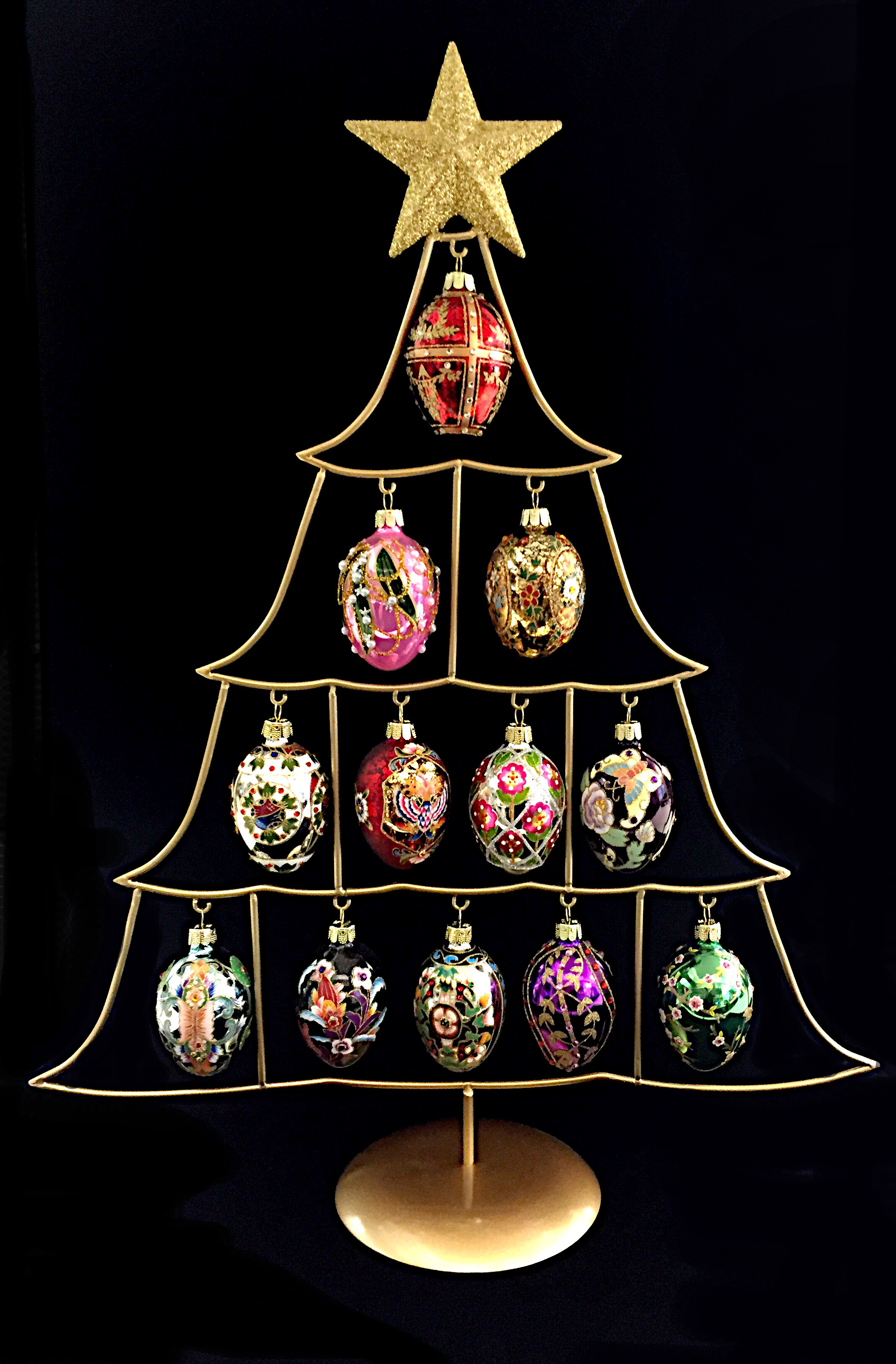2016 Set Of 12 Russian Inspired Mini Egg Ornaments  On Treeg