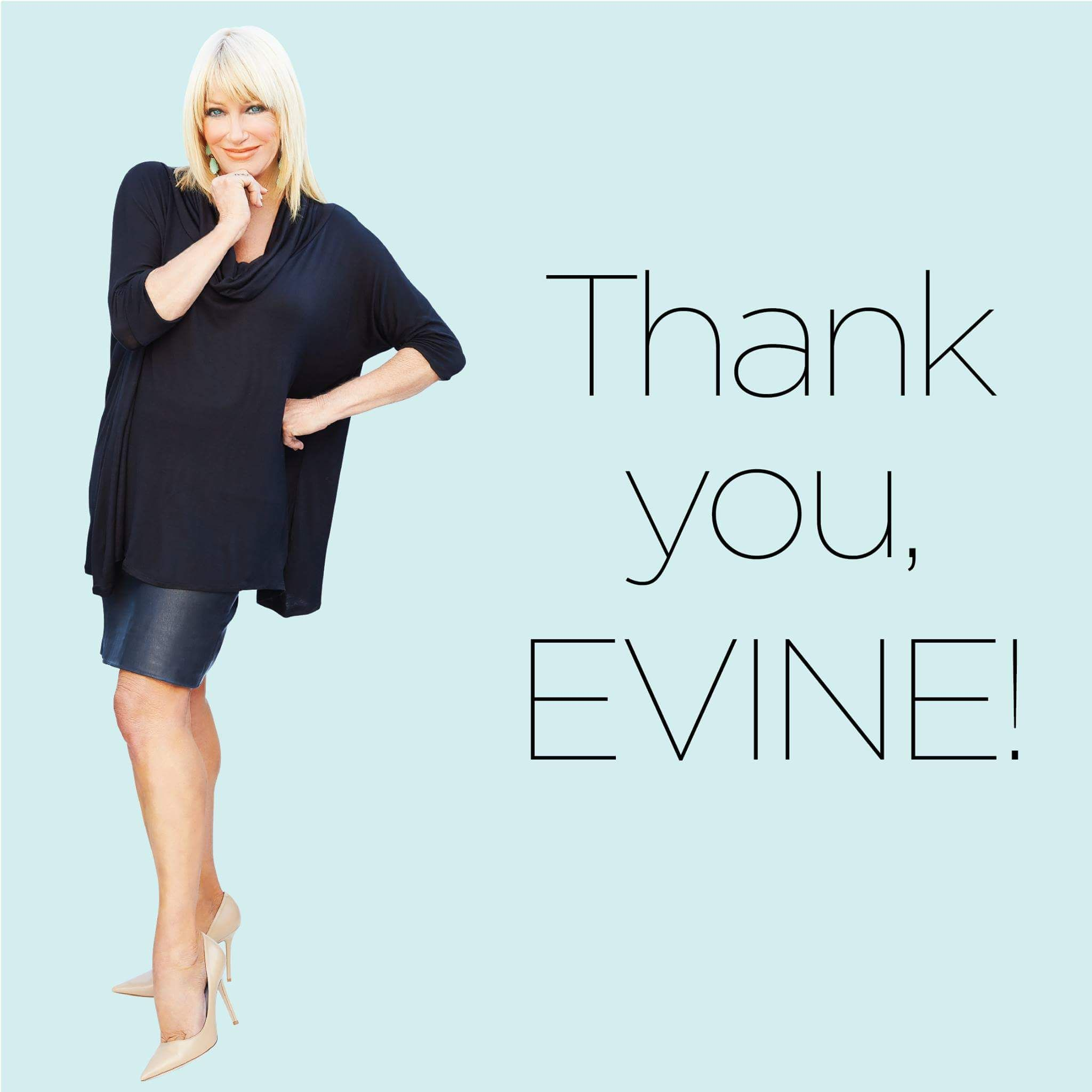 Suzanne Somers is no longer going to be on Evine L